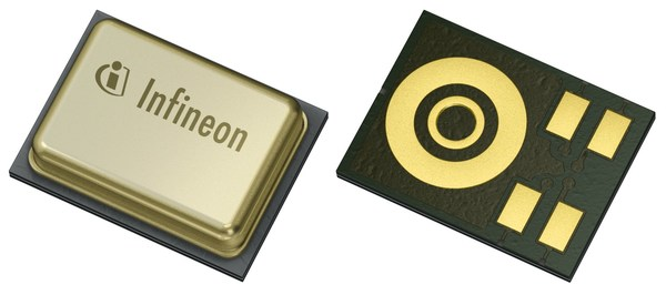 Infineon's XENSIV™ MEMS microphone IM73A135A features a 73 dB SNR and a high acoustic overload point (135 dB SPL) for a very high dynamic range microphone with a small footprint of 4 x 3 x 1.2 mm3 with the industry's lowest power consumption of 170 microampere.