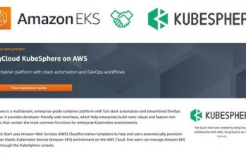 KubeSphere is now available as an AWS Quick Start