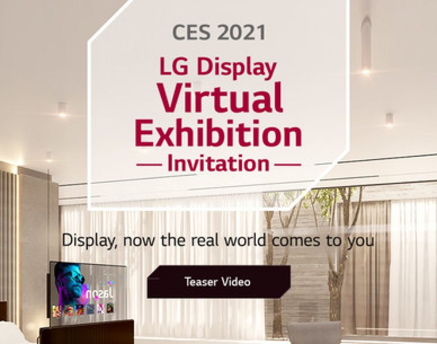LG Display redefines the role of displays in the contactless era at CES 2021