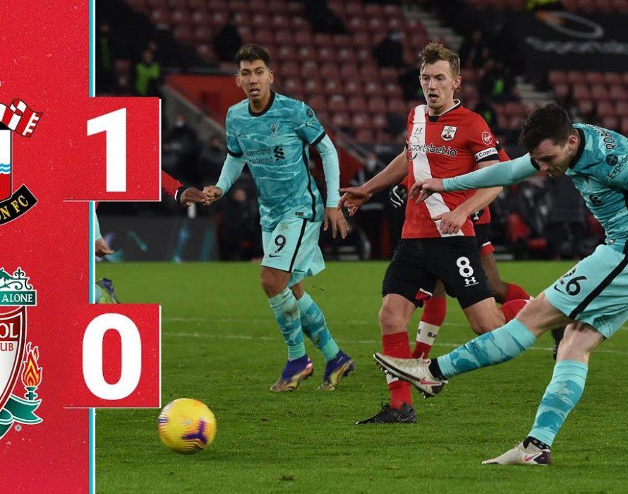 Liverpool lose to Southampton, risking lead