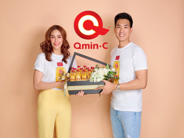 New Thai health drink 'QminC' surges during COVID-19 pandemic. Ties up with Thai mega-star Ms. Araya 'Chompoo' A. Hargate to introduce health benefits of curcumin to Thai consumers