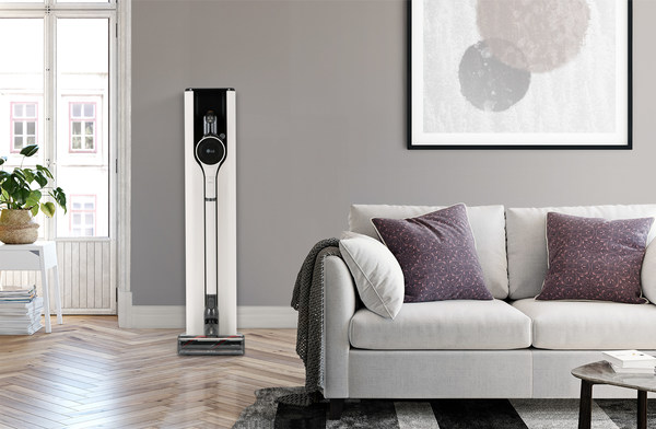 LG CordZero ThinQ with the new charging station