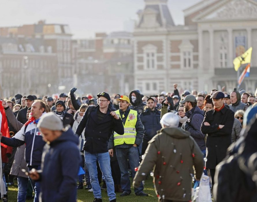 At least 190 protesters detained in Amsterdam during anti-lockdown demonstrations