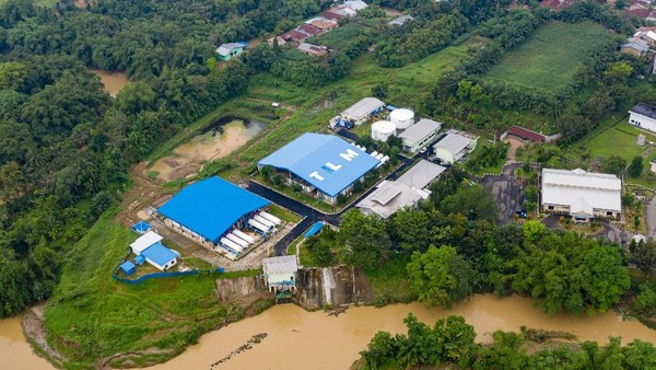 The completion of the extension project for the Medan drinking water plant has successfully boosted the production capacity to 77,760 m3/day to serve the population of Medan.