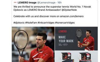 The Printer Cartridge Brand – LEMERO Announces Novak Djokovic as Brand Ambassador