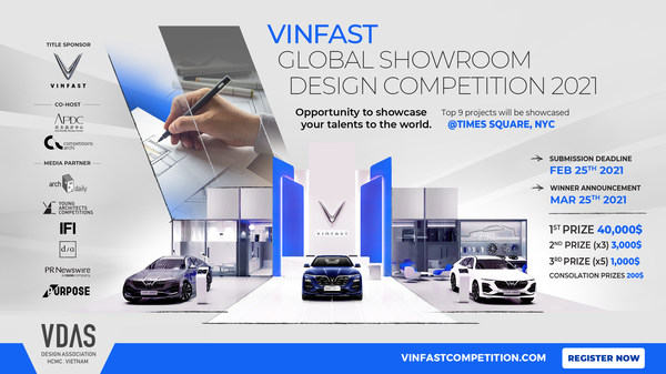 VinFast Global Showroom Design Competition to receive work submitted until 25/2/2021