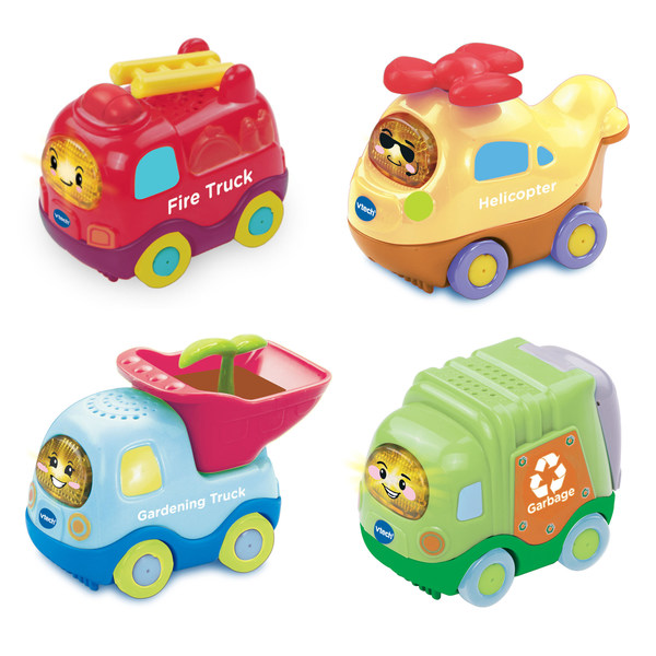 VTech's newly launched eco-friendly products include four new vehicles in the popular Go! Go! Smart Wheels® series made from plant-based plastic.