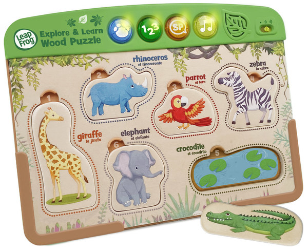 VTech will source materials from responsibly managed forests certified by Forest Stewardship Council® for the new wooden toy - Interactive Wooden Animal Puzzle™.