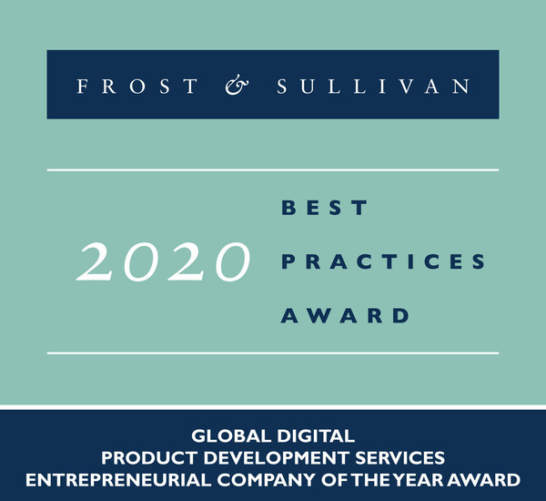 2020 Global Digital Product Development Services Entrepreneurial Company of the Year Award