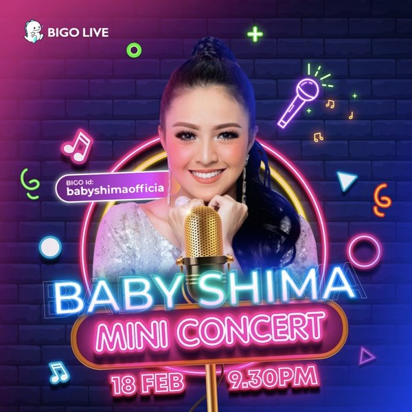 Catch Baby Shima's mini concert livestream on 18 February