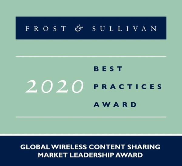 2020 Global Wireless Content Sharing Market Leadership Award