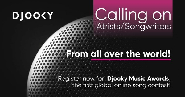 Become the new musical idol in Asia and the world with Djooky Music Awards. Registration is open to participants from all over the world until February 20, 2020.