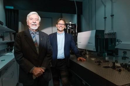 Scientific Director Prof Heinrich Hora (left), and Managing Director Dr Warren McKenzie (right).