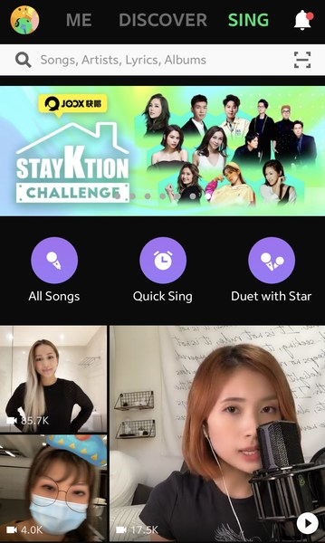 Enjoy JOOX's karaoke feature, which allows you to sing and dance with your favorite singers.