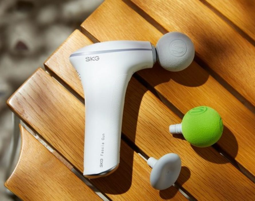 SKG launches its new F5 massage gun with hot compress