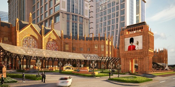 An artist's rendering shows the exterior of The Londoner Macao, which opened its first phase Monday. Opening progressively throughout the year, coming attractions include the imposing Houses of Parliament facade and life-size 96-metre Elizabeth Tower, featuring a replica of the famous Big Ben clock face, which will welcome guests with its accurate rendition of the classic bell chimes.