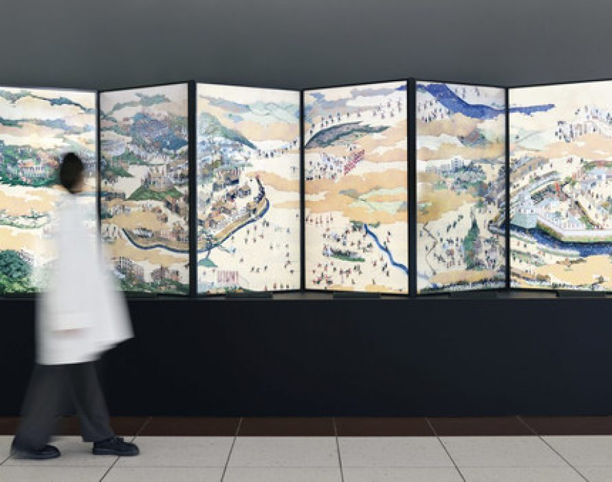 """Works of Media Art inspired by the """"movement"""" of Japan's samurai and ninja exhibited at Chubu Centrair International Airport from February 9"""