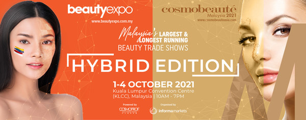 20th Edition of Beautyexpo & 16th Edition of Cosmobeauté Malaysia will be held as hybrid edition from 1 to 4 October 2021