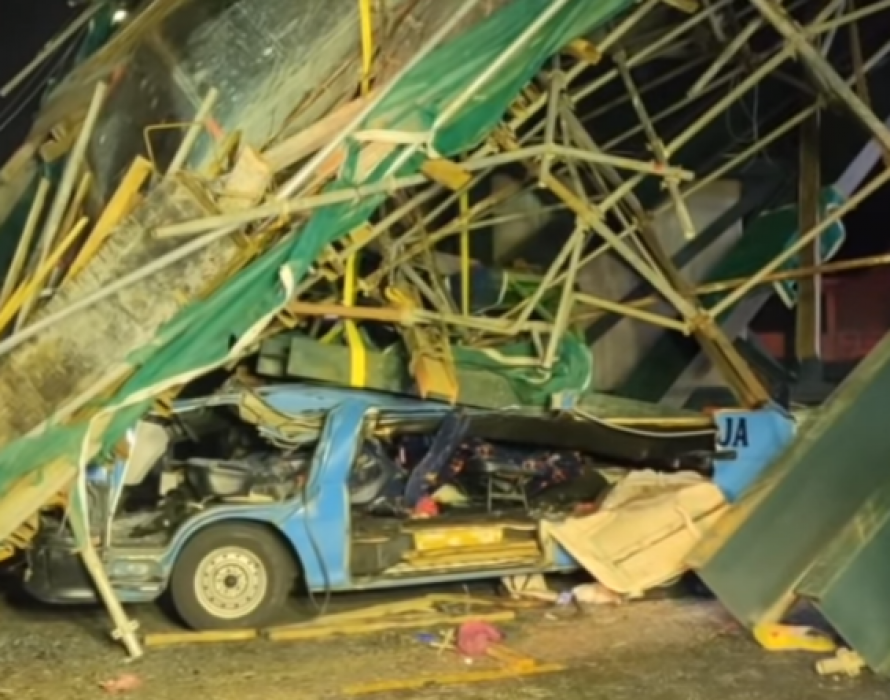 Overhead bridge under construction collapses, two dead, three seriously injured