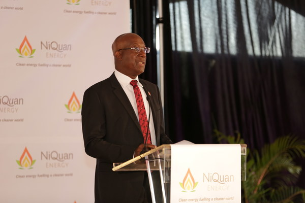 The Honourable Prime Minister Dr Keith Rowley opens the plant.