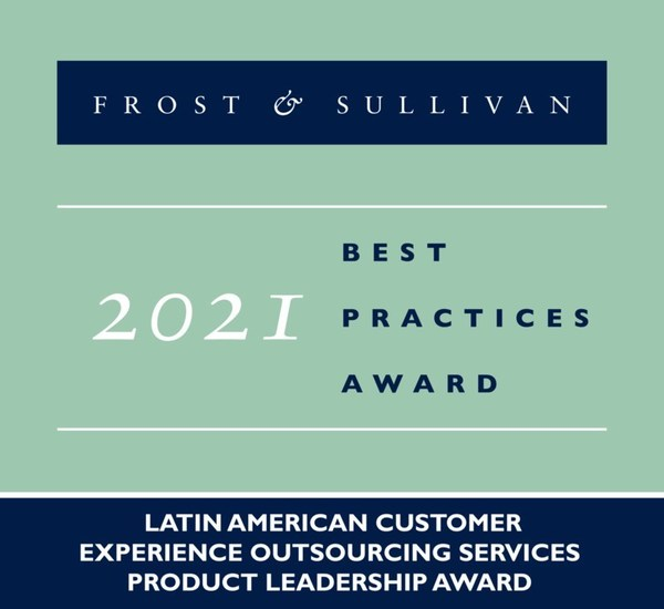 2021 Latin American Customer Experience Outsourcing Services Product Leadership Award