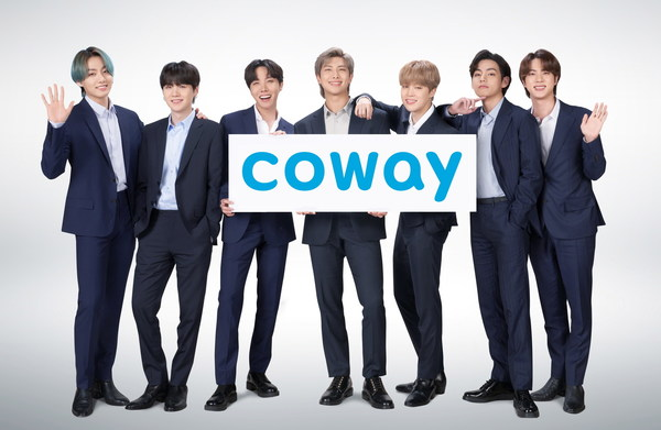 BTS, the Global Brand Ambassador of Coway