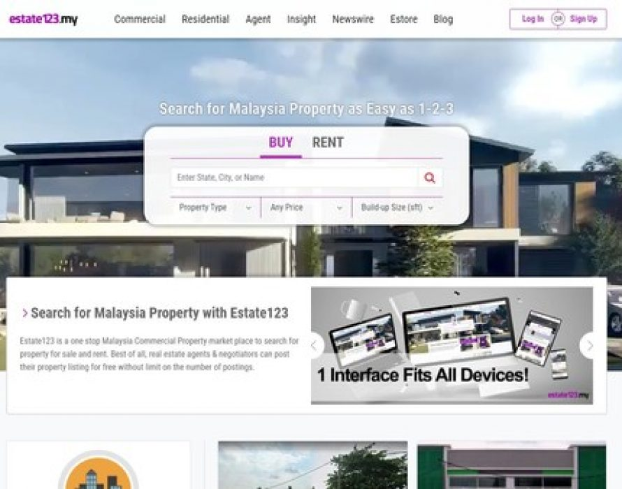 Estate123 Malaysia Launches Revamped Property Portal