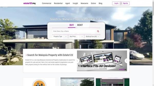 Estate123 Malaysia's Main Page