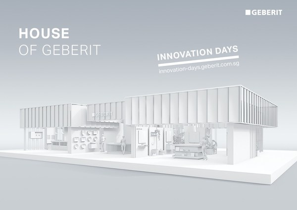 """""""House of Geberit"""": Geberit will stream presentations on design, functionality, and technology directly to the participants' end devices from an offline trade fair booth."""