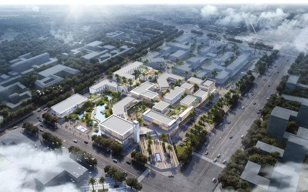 Rendering of the 1.5-level enterprise port project (Phase I) of Haikou Jiangdong New Area