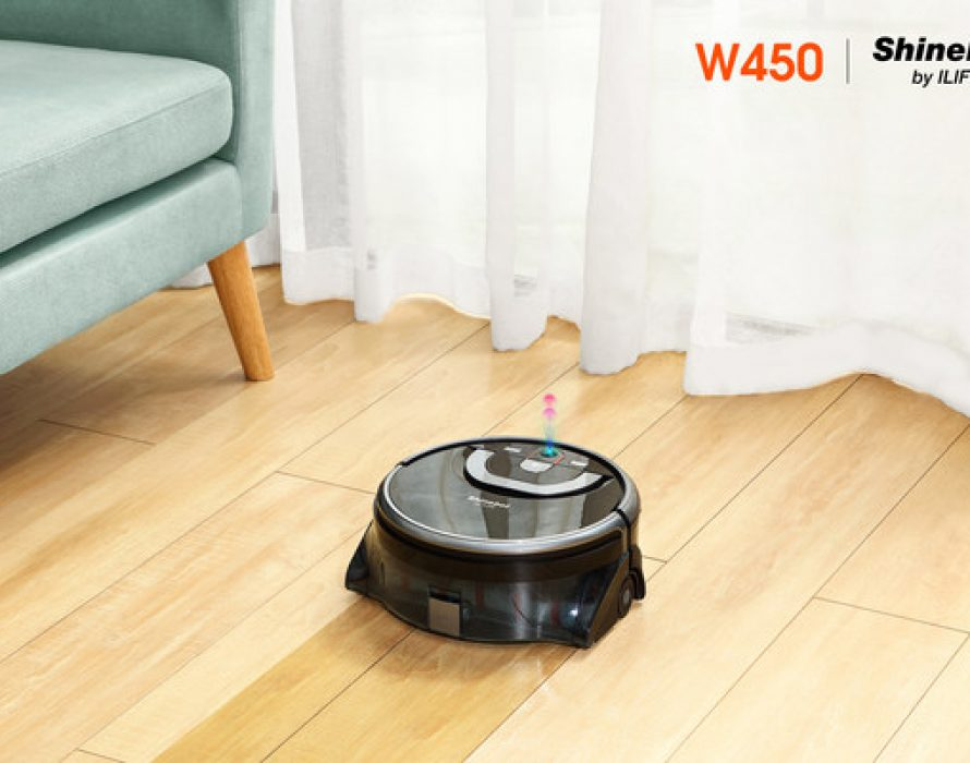 ILIFE Shinebot W450 floor washing robot now available in the United States