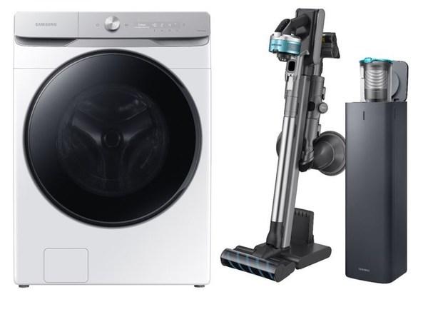 INEOS Styrolution's Zylar® 261 used Samsung's new range of washing machines and vacuum cleaners (image courtesy of Samsung Electronics, 2021)