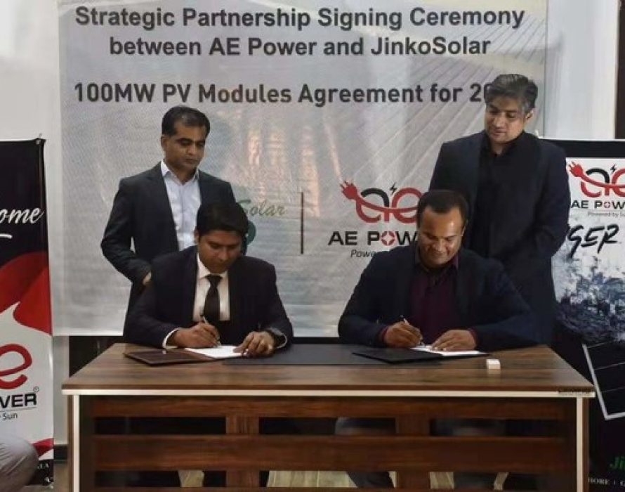 JinkoSolar Signed an 100MW Solar Modules Distribution Agreement with AE Power for 2021 in Pakistan