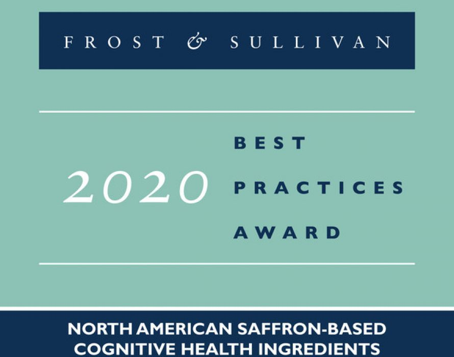 Pharmactive Earns Acclaim from Frost & Sullivan for Helping People Improve their Cognitive Functions with its Saffron-based Ingredient, Affron®