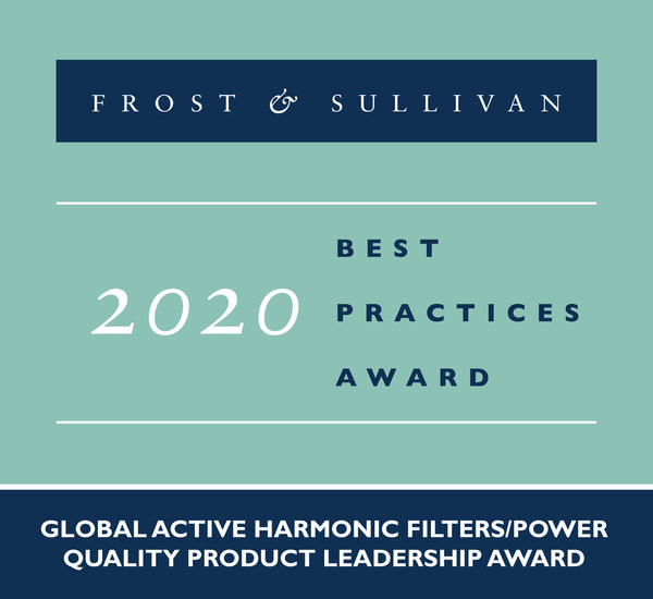2020 Global Active Harmonic Filters/Power Quality Product Leadership Award