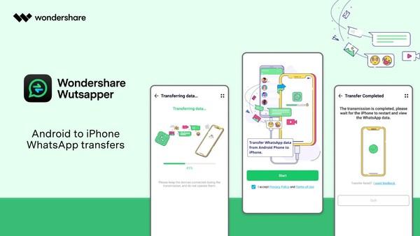 Wondershare Wutsapper: Transfer WhatsApp Data from Android to iPhone
