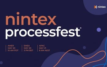 Automation Event of the Year – Nintex ProcessFest® 2021 – Goes Virtual on 20 May