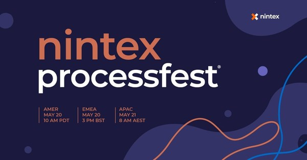 Nintex today announced that registration is open for the company's annual conference, Nintex ProcessFest® 2021. The conference will highlight latest innovations in process management and automation software with 90-minute virtual keynote and on-demand access to business, technical and partner best practices
