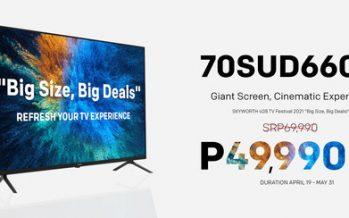 """""""Big Size, Big Deals"""" 70SUD6600 Home Cinema TV"""