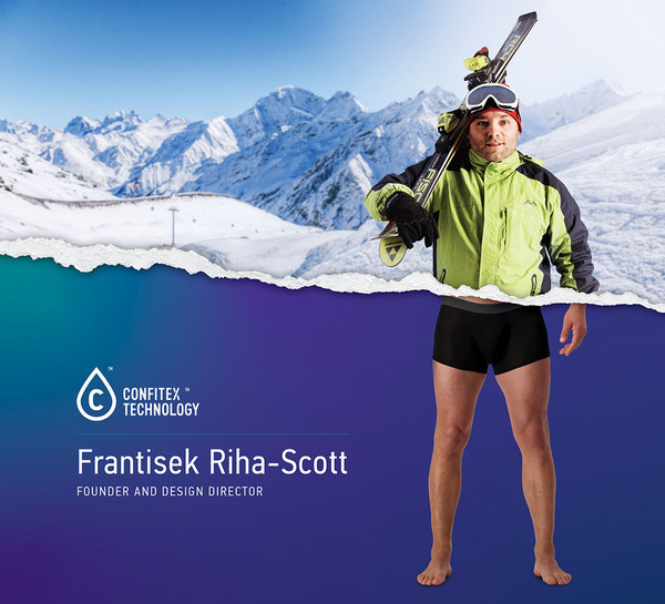 Confitex Founder, Frantisek Riha-Scott, creator of advanced absorbent leakproof underwear with patented PU plastic free textile technology