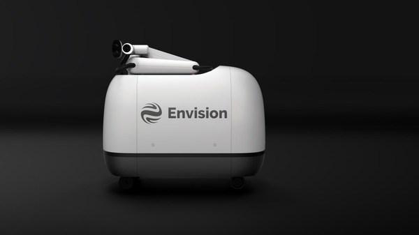 Envision's green charging robot MOCHI