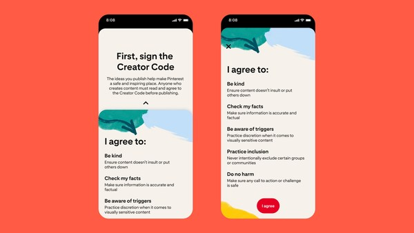 Pinterest Launches 'Creator Code,' New Comment Moderation Tools and a Creator Fund to Keep Online Content and Experiences Positive, Safe and Inspiring