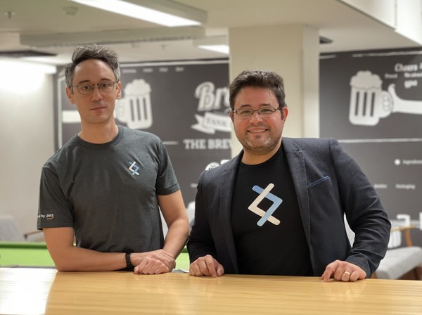 DNX Solutions co-founders Allan Denot (CTO) and Helder Klemp (CEO)
