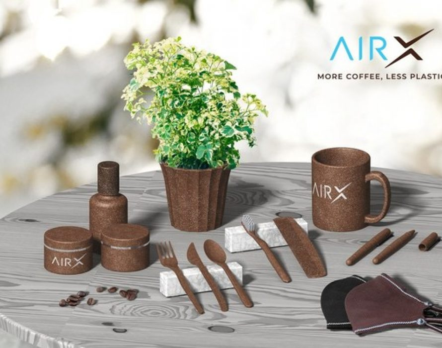AirXCoffee successfully launches the World's First Coffee Bio-Composite that can replace single-use plastic