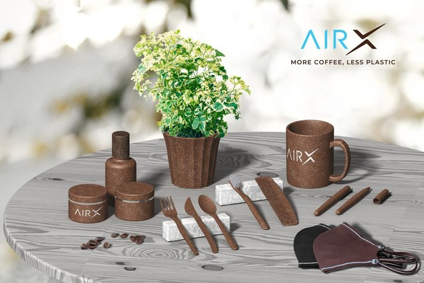 AirXcoffee has been successful in sourcing coffee grounds to turn into Coffee Bio-Composite, which can be used to replace tableware, polystyrene cup, flowerpot and everything that can be made of plastics.