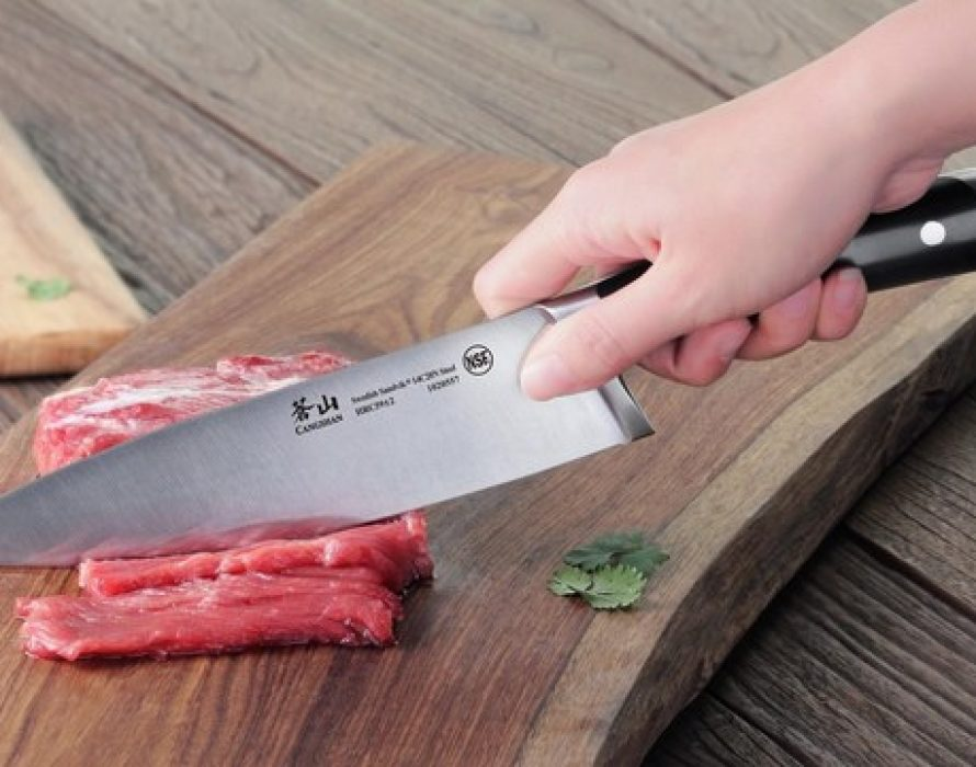 'Cangshan' Knives slices, dices and chiffonade's into the Food Sport Arena