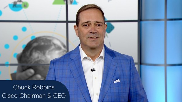 """Cisco Chairman and CEO Chuck Robbins addresses RSA Conference 2021, """"Security must be simple, intelligent and everywhere."""