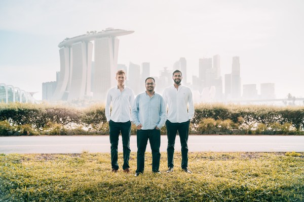 Una Brands Singapore-based Co-Founders (from left to right): Tobias Heusch, Kiren Tanna and Kushal Patel