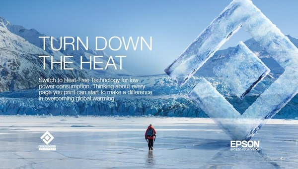 Epson's TURN DOWN THE HEAT' campaign encouraging people at homes and offices to switch to Heat-Free Technology with low power consumption. ©Jasper Gibson