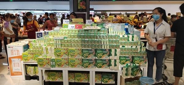 Fami products at Taizhou Lianshang supermarket in Zhe Jiang province, China